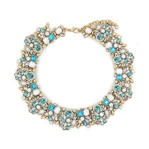 Fashion  beautiful sky blue crystal necklace